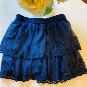 Carters blue lace and tulle ruffle skirt 8